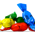 Caramelos con papel biodegradable