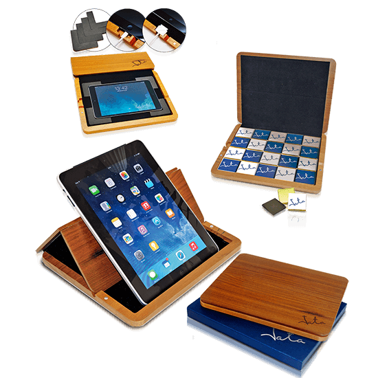 Wooden tablet holder with 24 neapolitans