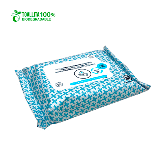 25-pack hydroalcoholic wipes