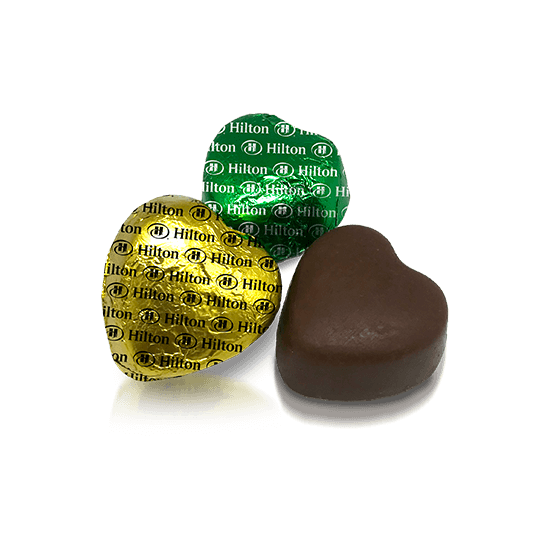 Chocolate with heart shape