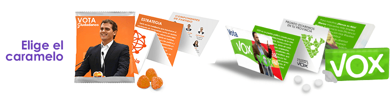 Flyer desplegable + programa electoral