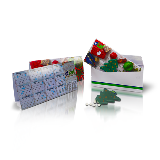Calendario con caja mints