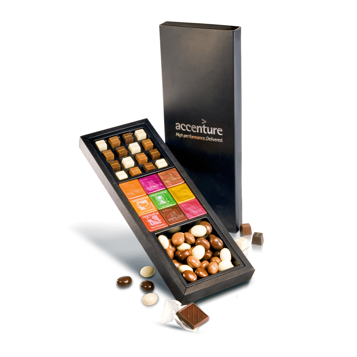 Box with 3 varieties of chocolate