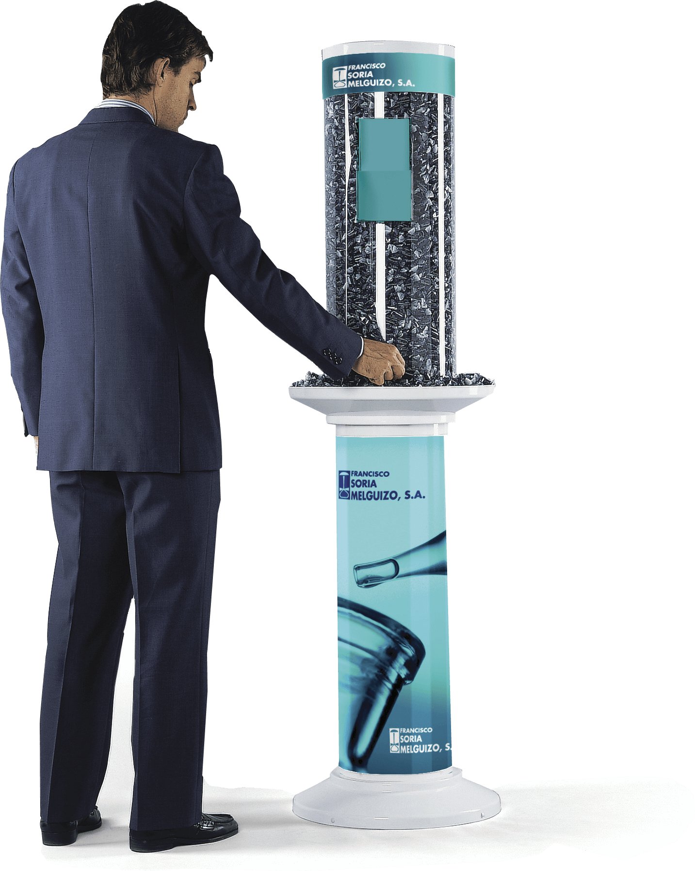 Display stand with brochure holder