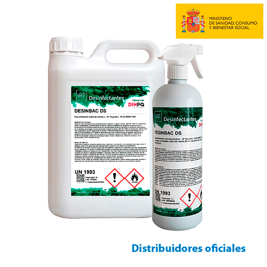 Hydroalcoholic multi-surface disinfectant (DESINBAC DS) - Virucida authorized by the Ministry of Health