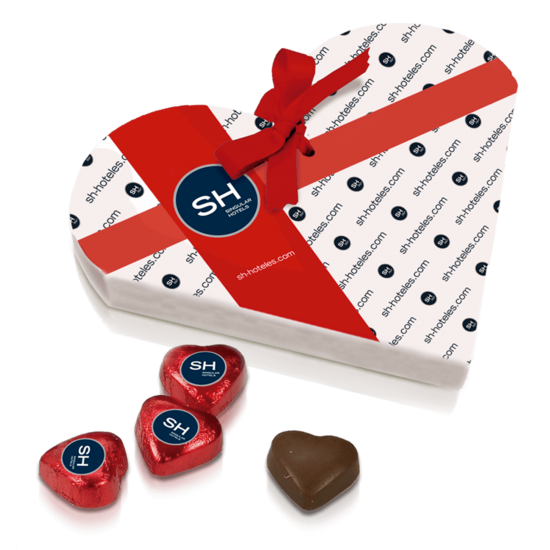 Chocolates box with heart shape