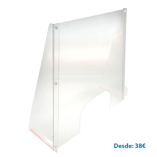 75 cm high methacrylate partition