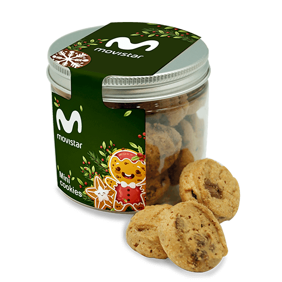 Bote 250 ml con mini cookies