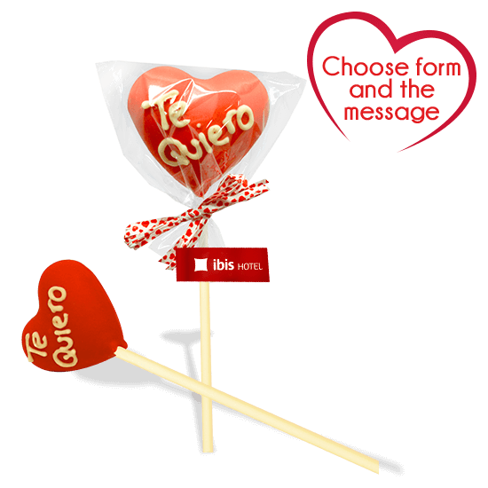 3D heart lollipop XL