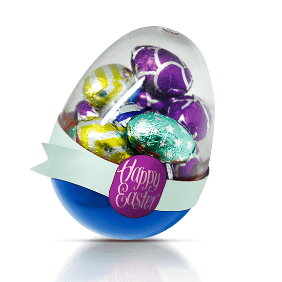 Candy jar with eggs