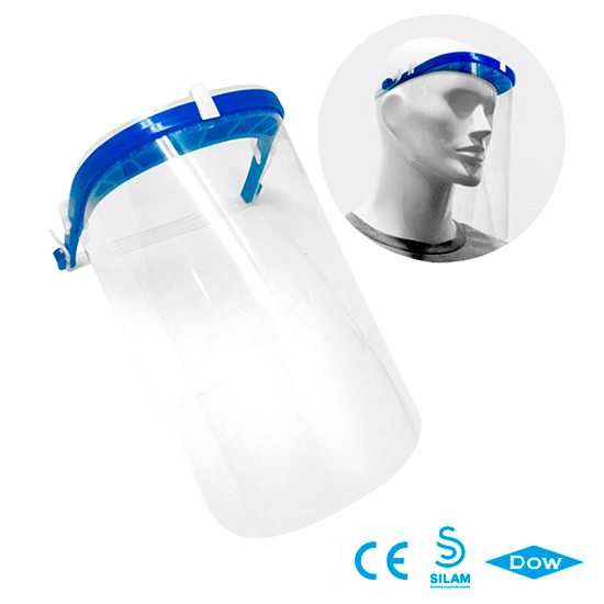 Homologated protective face shield