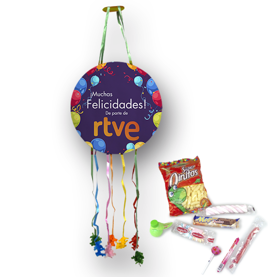 Piñata with candies and chocolates