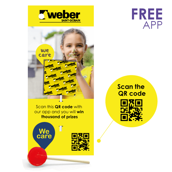 Flyer with lollipop + QR code