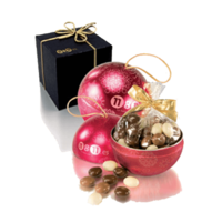 Tin ball with christmas design