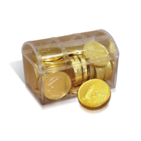 Plastic chest with coin