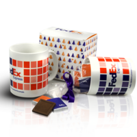 Cup of ceramic with chocolates