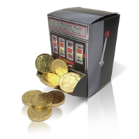 Coin slot machine dispenser