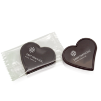 Chocolate heart in flowpack