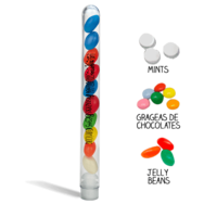 Test tube with candies