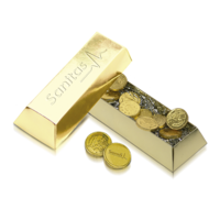 Ingot with coins