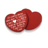 Dispenser of heart mints box