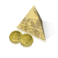 Pyramid with coins